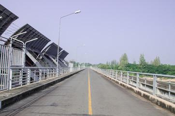 The road bridge over the dam in thailand