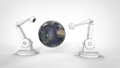Bras Robotisés - Caméra - Globe