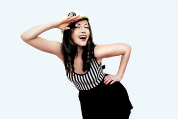 Pin up girl sailor