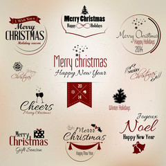 Christmas and New Year symbols for design. Vector