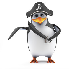 Cute penguin has turned to piracy!