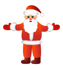 Santa claus on a white background