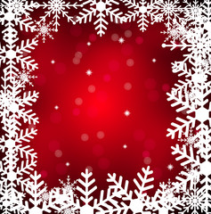 festive christmas background with snowflakes