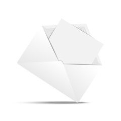 Envelope with a clean white paper sheet