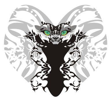 Monster lion butterfly