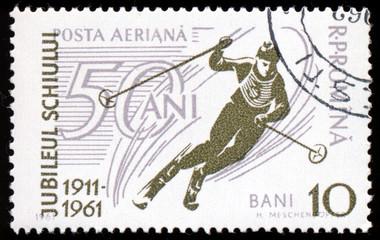 ROMANIA - CIRCA 1961: A stamp printed in the Romania, dedicated