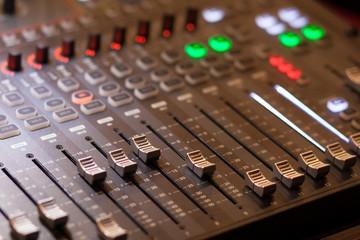 audio mixing in studio