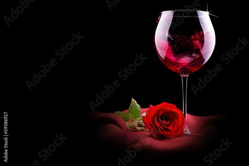 Два бокала с розами  № 750259 бесплатно