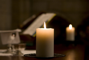 Candle On Altar