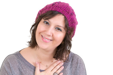 Woman showing her heartfelt gratitude