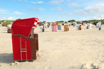 Typical chairs on island Borkum