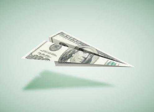 paper dollar plane