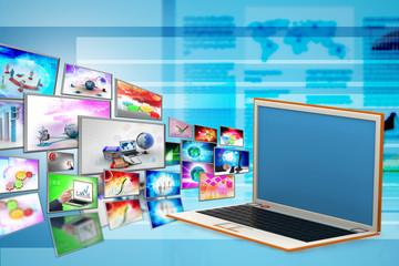 Laptop, technology concept