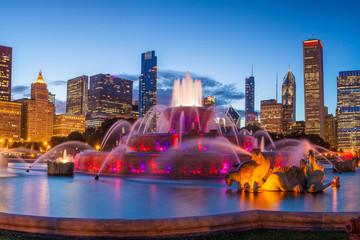 Photo sur Toile Chicago Buckingham fountain