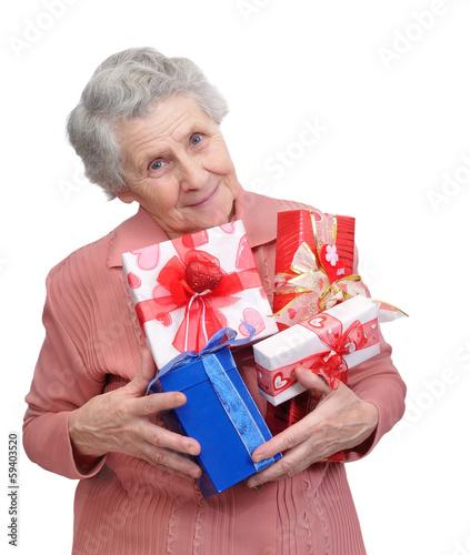 Поздравления бабушке с подарками