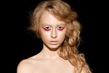close up model face make up portrait