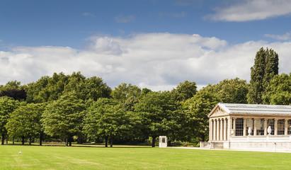 Italian Garden in Kensington Gardens, London.