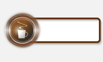 vector text box for any text and cup of coffee