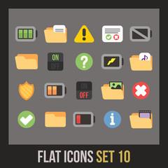 Flat icons set 10