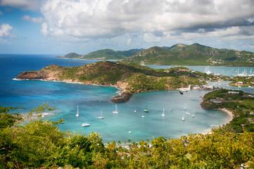 Foto auf AluDibond Karibik Falmouth bay - View from Shirley Heigths, Antigua