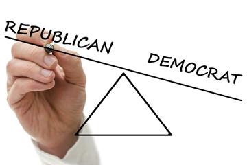 Republican versus democrat