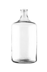 Old glass jar. Isolated on a white background.