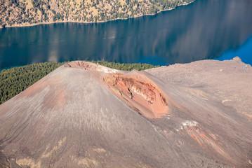 Mount Barujari volcano in Mt Rinjani's caldera