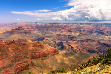 famous horizontal view of Grand Canyon , Arizona, USA