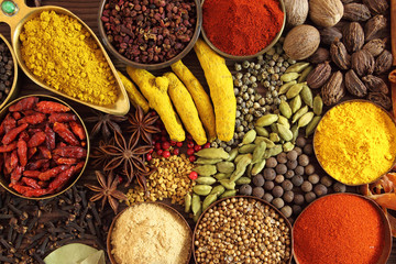 Fototapete - Indian spices