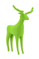Green Velvet Reindeer