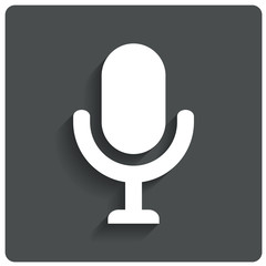 Microphone icon. Speaker symbol. Live music.