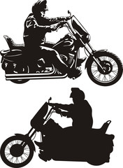 Wall Mural - man riding a motorcycle