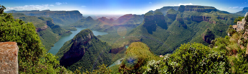 Spoed Fotobehang Zuid Afrika Blyde Canyon (South Africa) Panorama
