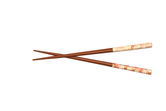 Terracotta Chopsticks isolated on white