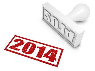 Year 2014 Rubber Stamp