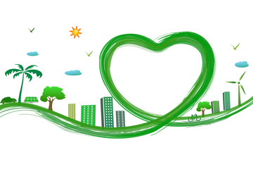 green city with green heart