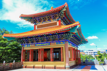 Traditional Chinese style temple at Wat Leng-Noei-Yi  in Nonthab