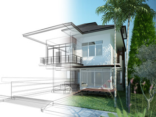 sketch design of  house