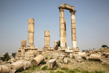 Ancient Temple on the Citadel in Amman, Jordan