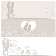 3 Banner zum Valentinstag