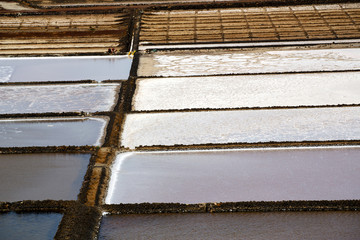salt in  lanzarote spain musk pond rock stone sky