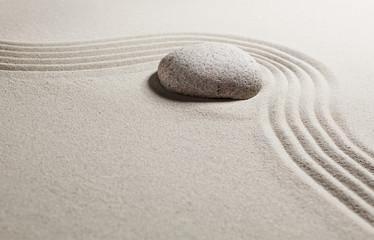 Foto op Plexiglas Stenen in het Zand progression with suppleness
