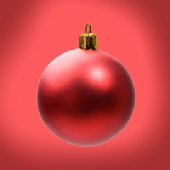 Bright and red ball for Christmas decoration