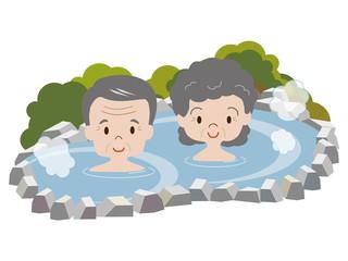 高齢者(露天風呂)