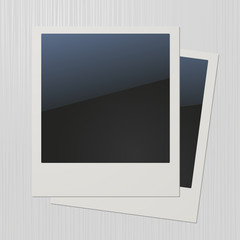 Two blank retro photo frames
