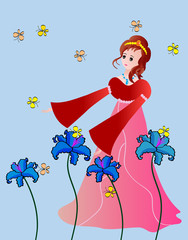 Princess with butterflies