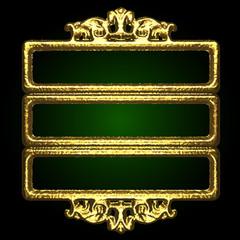 golden vector decor