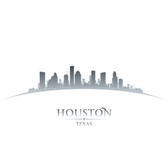 Wall Mural - Houston Texas city skyline silhouette white background