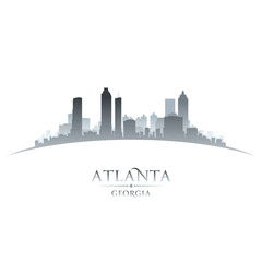 Wall Mural - Atlanta Georgia city skyline silhouette white background