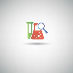 Research symbol,vector